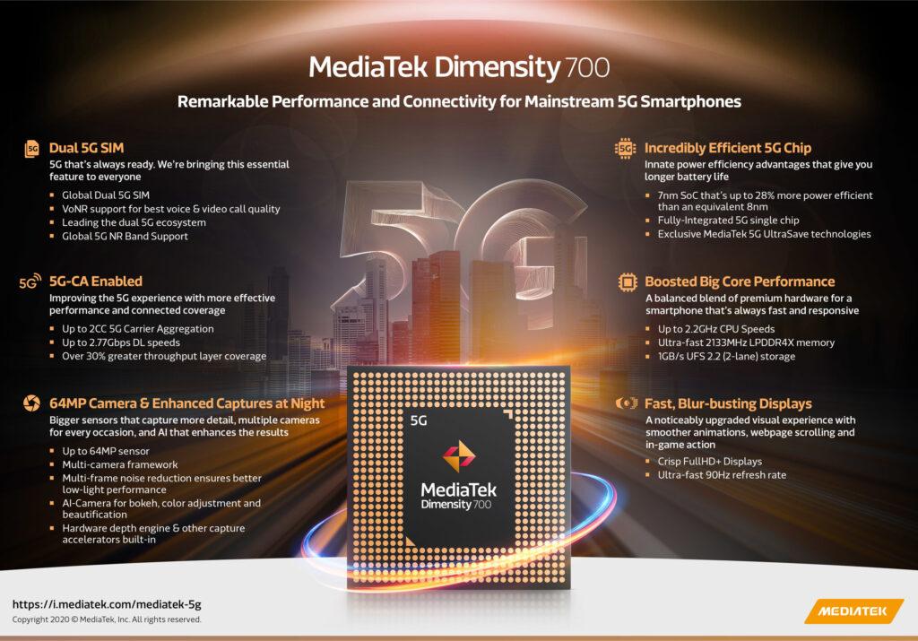 Dimensity 700 5G Chipset