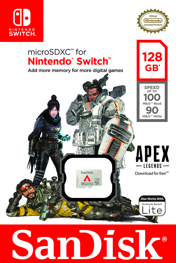 Apex Legends theme 128GB SanDisk MicroSD Card for Nintendo Switch