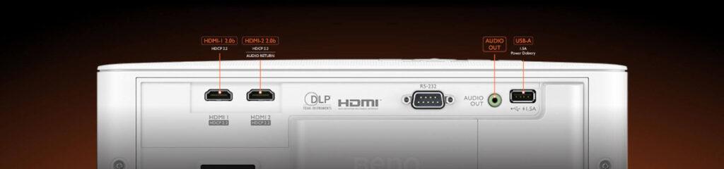 BenQ Gaming Tk700STi 4K Gaming Projector Ports