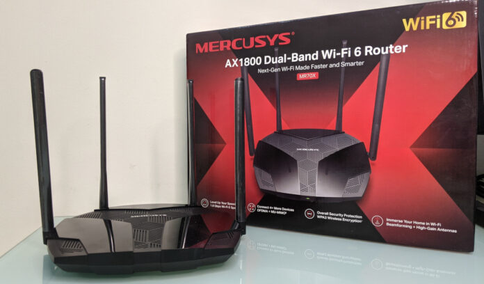 Mercusys MR7X AX1800 WiFi 6 WPA3 wireless Router